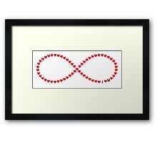I love you infinity loop Framed Print