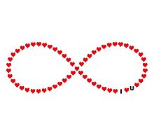 I love you infinity loop Photographic Print
