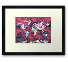 world map watercolor 8 Framed Print