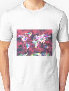 world map watercolor 8 T-Shirt