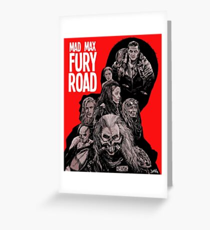 Mad Max Fury Road with Logo Greeting Card