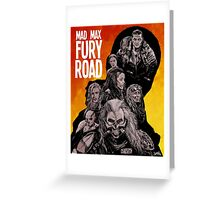 Mad Max Fury Road Fiery Edition Greeting Card