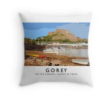 Gorey (Railway Poster) Throw Pillow
