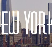 New York Skyline, America Sticker
