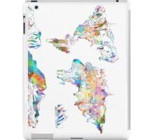 world map collage 4 iPad Case/Skin