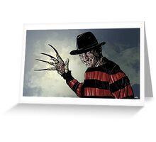 Freddy Krueger Greeting Card