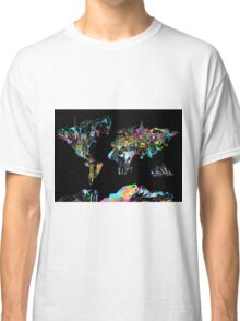 world map collage 5 Classic T-Shirt