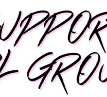 support girl groups  Sticker
