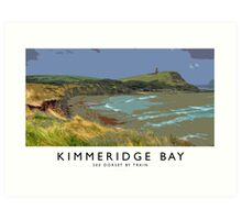 Kimmeridge Bay, (Railway Poster) Art Print