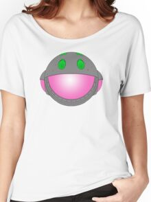 Heavy Metal Spaceship / Starship black outline, colour fill Women's Relaxed Fit T-Shirt