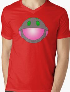 Heavy Metal Spaceship / Starship black outline, colour fill Mens V-Neck T-Shirt
