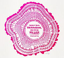 My List – Pink Ombré Ink by Cat Coquillette