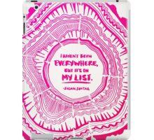 My List – Pink Ombré Ink iPad Case/Skin