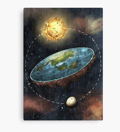 Flat Earth Sun & Moon Canvas Print