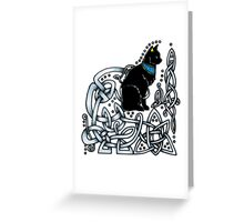 Celtic/Egyptian Cat Greeting Card