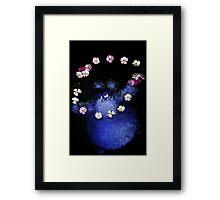 happy flower monster Framed Print