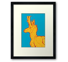 Pronghorn print #2 Framed Print