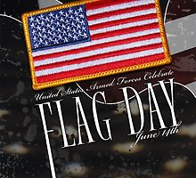 US Military Official Flag Day Poster by MGR Productions