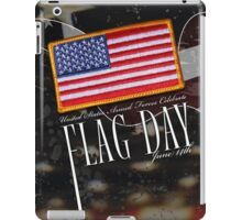 US Military Official Flag Day Poster iPad Case/Skin