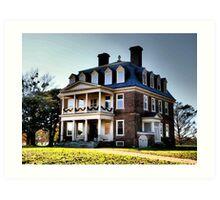 Historic Shirley Plantation Main House, James River Art Print