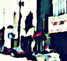 Street Scene No. 1 Sticker