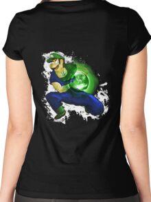 Kamehame-Luigi Women's Fitted Scoop T-Shirt