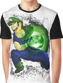 Kamehame-Luigi Graphic T-Shirt