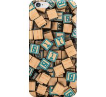 Binary blocks iPhone Case/Skin