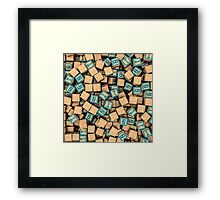 Binary blocks Framed Print