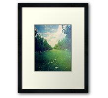 Apple Orchard in Spring Framed Print