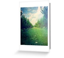 Apple Orchard in Spring Greeting Card