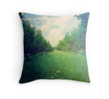 Apple Orchard in Spring Throw Pillow