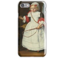D Vos A YOUNG GIRL WITH A PET GOAT,  iPhone Case/Skin