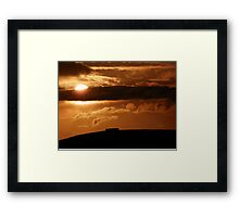 Grianian of Aileach Sunset ,Donegal, Ireland  Framed Print