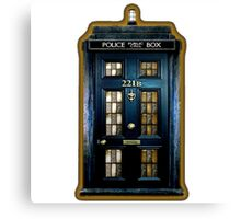 Police Box Doctor Who Canvas Print