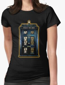 Police Box Doctor Who Womens Fitted T-Shirt