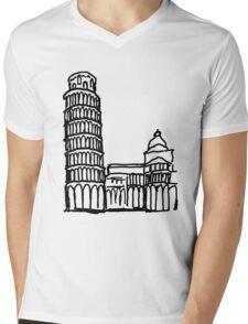 Pisa Italy Mens V-Neck T-Shirt