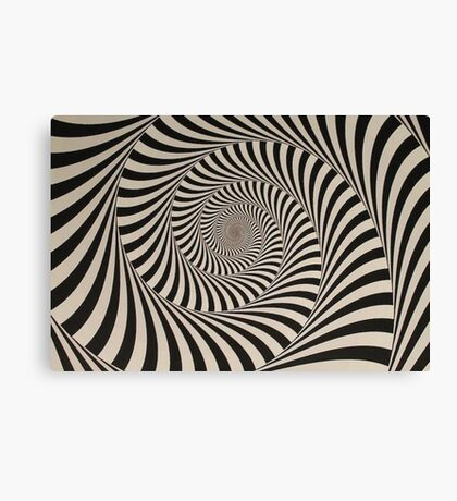 Trance Spiral Psychedelic Art Canvas Print