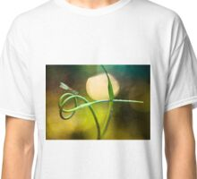 Blue Dragonfly sitting on garlic plant Classic T-Shirt