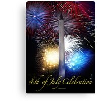 Fourth of July in D. C. Canvas Print