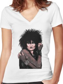 Siouxsie Sioux 2 Women's Fitted V-Neck T-Shirt