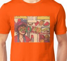 masked lady at coney island Unisex T-Shirt