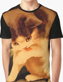 Brown and beige kitten painting Graphic T-Shirt