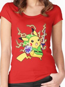 Pokemon Zelda Women's Fitted Scoop T-Shirt