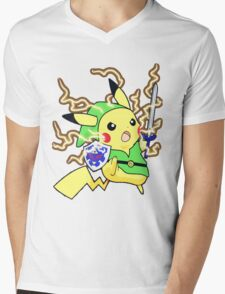 Pokemon Zelda Mens V-Neck T-Shirt