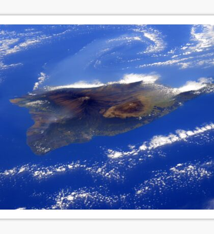 Island of Hawaii From the International Space Station Sticker