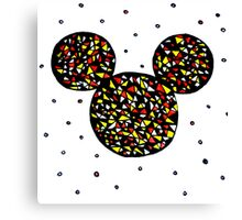 Abstract Mickey Canvas Print