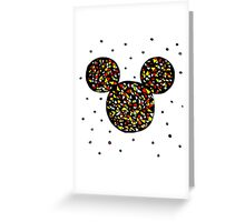 Abstract Mickey Greeting Card