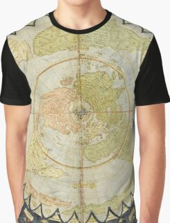 Flat Earth old map Graphic T-Shirt