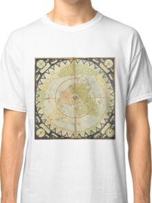 Flat Earth old map Classic T-Shirt